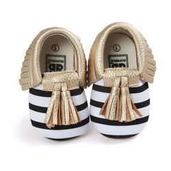 Striped Tassel Moccasins - Theitkidsboutique