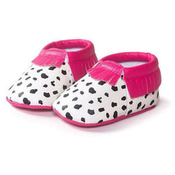 Pink + Cow Print Moccasin - Theitkidsboutique