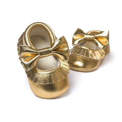 Bow Tie Soft Sole Shoes - Theitkidsboutique