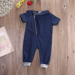 Cute Denim Baby Romper - Theitkidsboutique