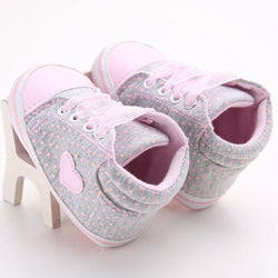 Shoes - Cute Heart Newborn Soft Sole Sneakers