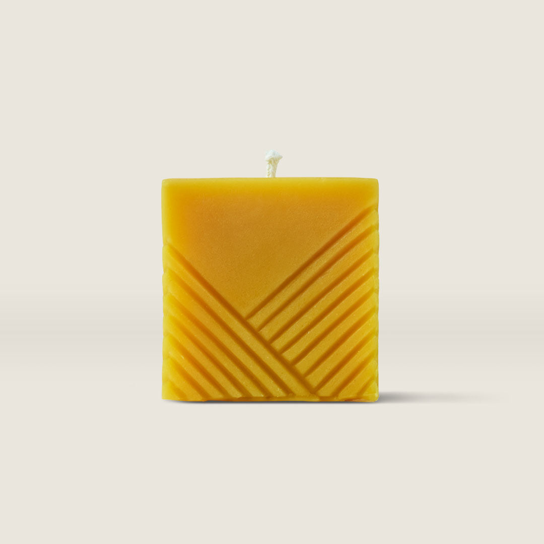 Beeswax Candle—Square