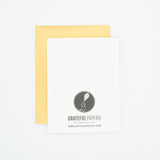 Pie - Thank You Greeting Card