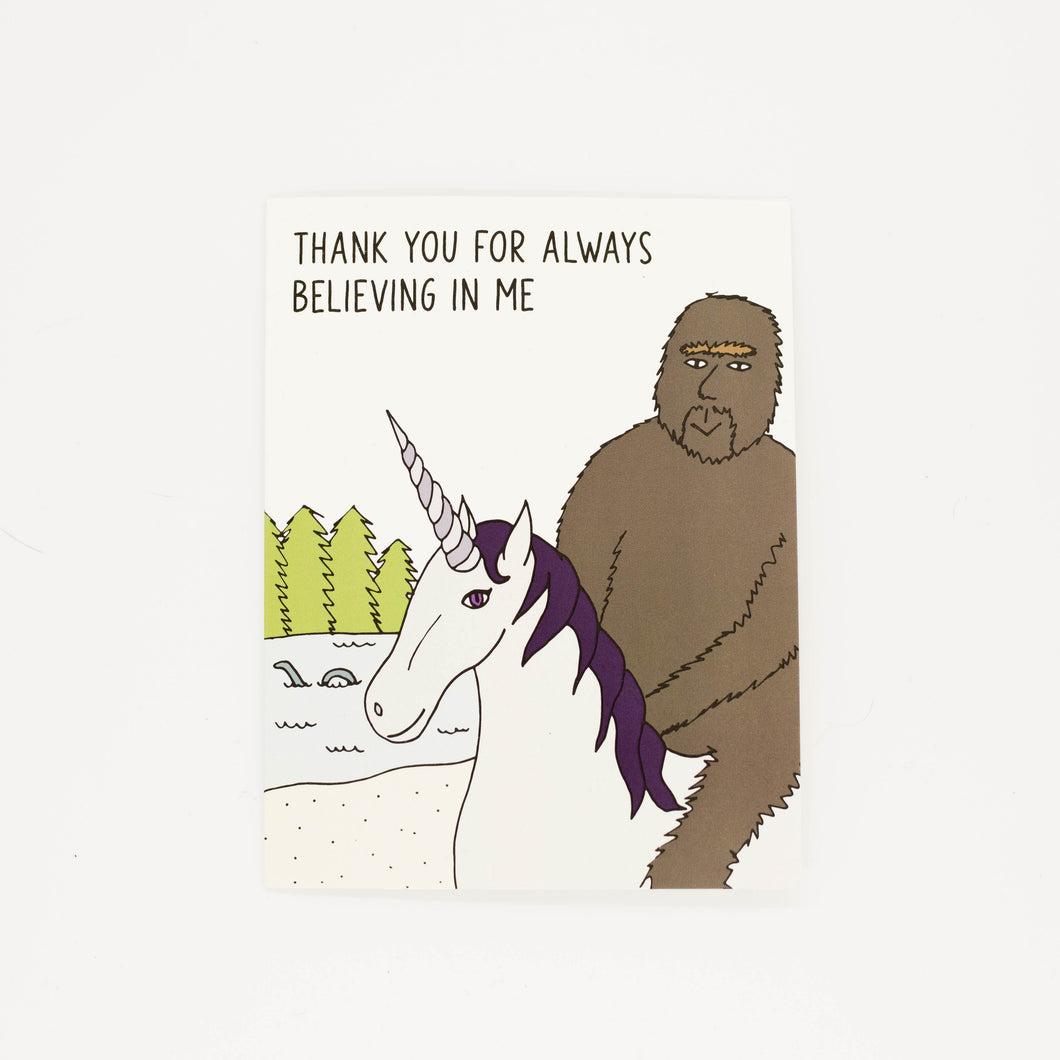 Believing in Me - Thank You Greeting Card