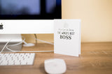 World's Best Boss - Thank You Greeting Card