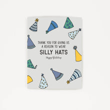 Load image into Gallery viewer, Silly Hats - Thank You Birthday Card