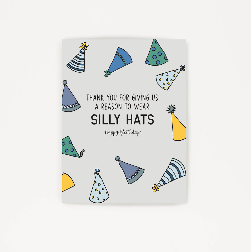 Silly Hats - Thank You Birthday Card