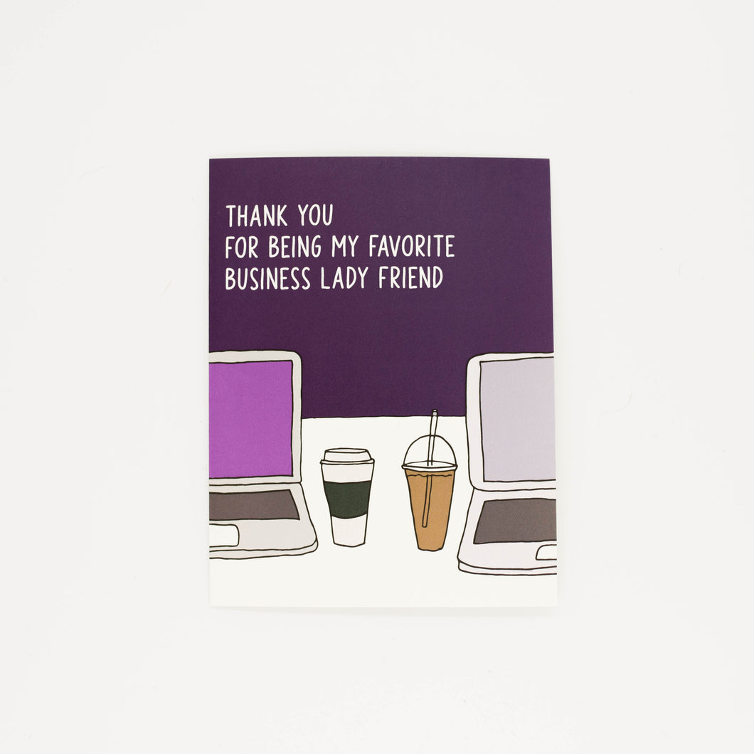 Business Lady Friend - Thank You Greeting Card