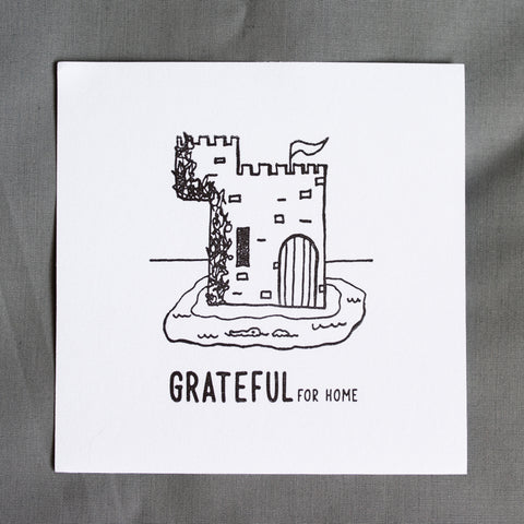 Grateful For Home Letterpress Print - The Castle
