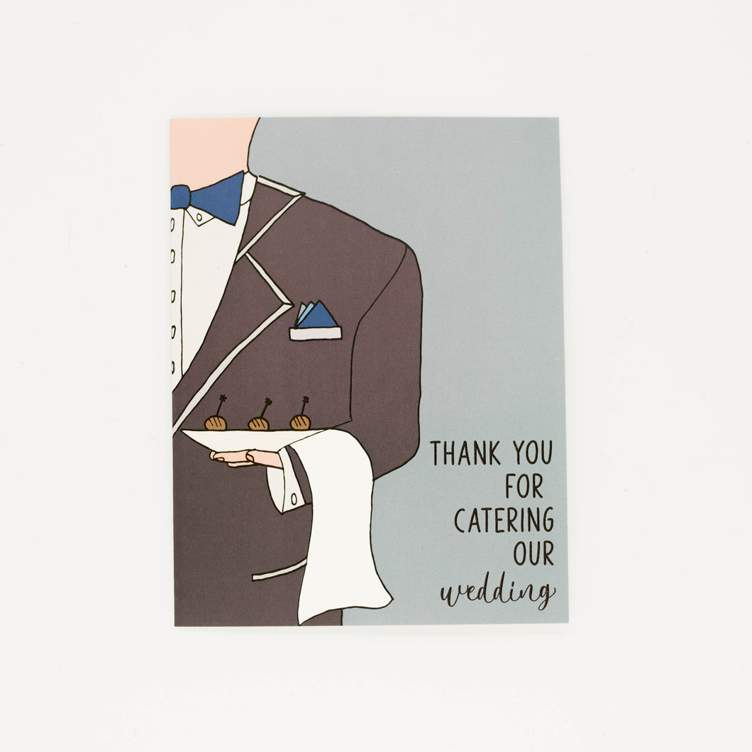 Wedding Caterer - Thank You Greeting Card