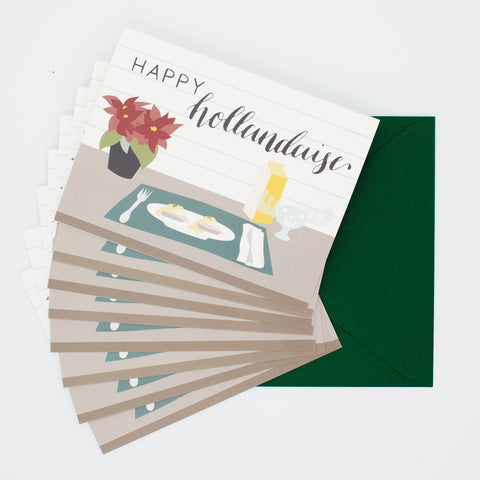 Happy Hollandaise - Set of 8 Greeting Cards & Envelopes