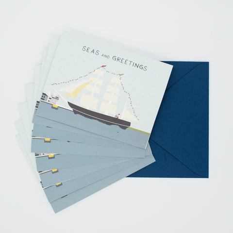 Seas & Greetings - Set of 8 Greeting Cards & Envelopes