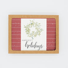 Load image into Gallery viewer, Happiest Holidays - Set of 8 Greeting Cards & Envelopes