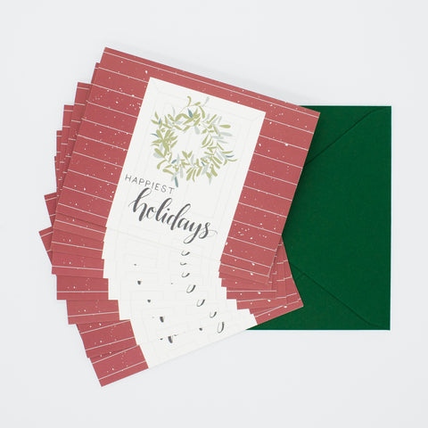 Happiest Holidays - Set of 8 Greeting Cards & Envelopes