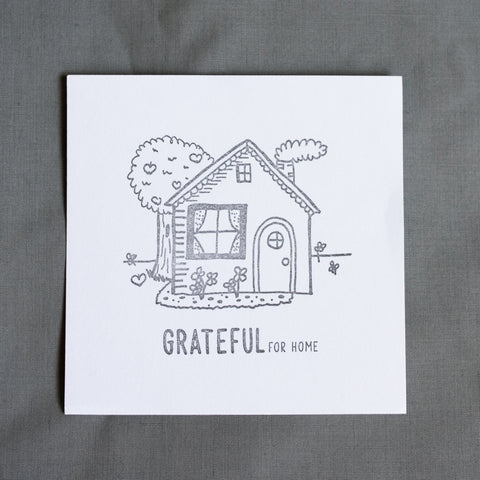 Grateful For Home Letterpress Print - The Cottage