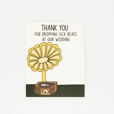 Wedding DJ - Thank You Greeting Card