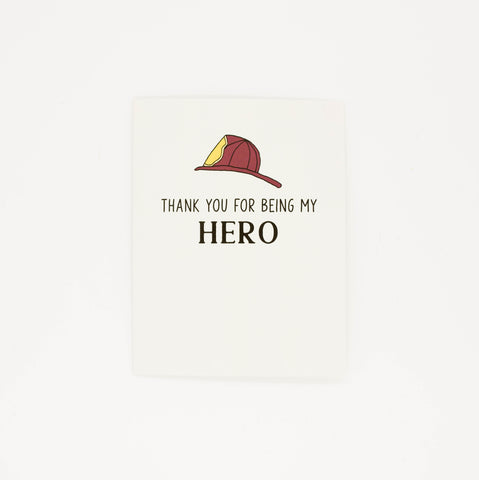 Firefighter - Thank You Greeting Card
