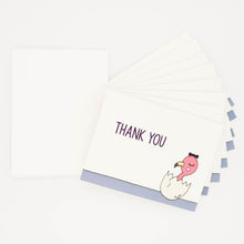 Load image into Gallery viewer, Flamingo Baby Shower - Set of 8 Greeting Cards & Envelopes