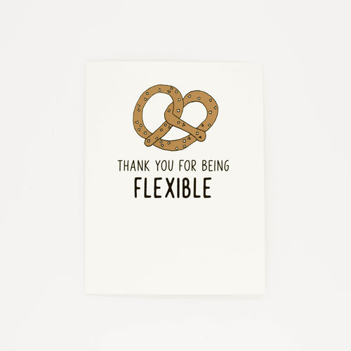 Being Flexible - Thank You Greeting Card-Greeting Cards-Grateful Paperie