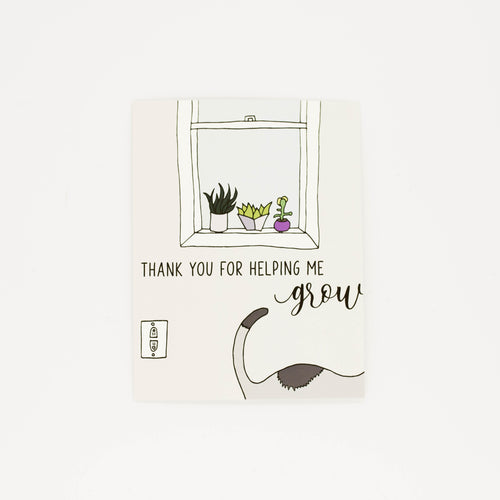 Helping Me Grow - Thank You Greeting Card-Greeting Cards-Grateful Paperie