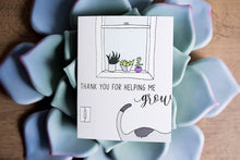 Load image into Gallery viewer, Helping Me Grow - Thank You Greeting Card-Greeting Cards-Grateful Paperie