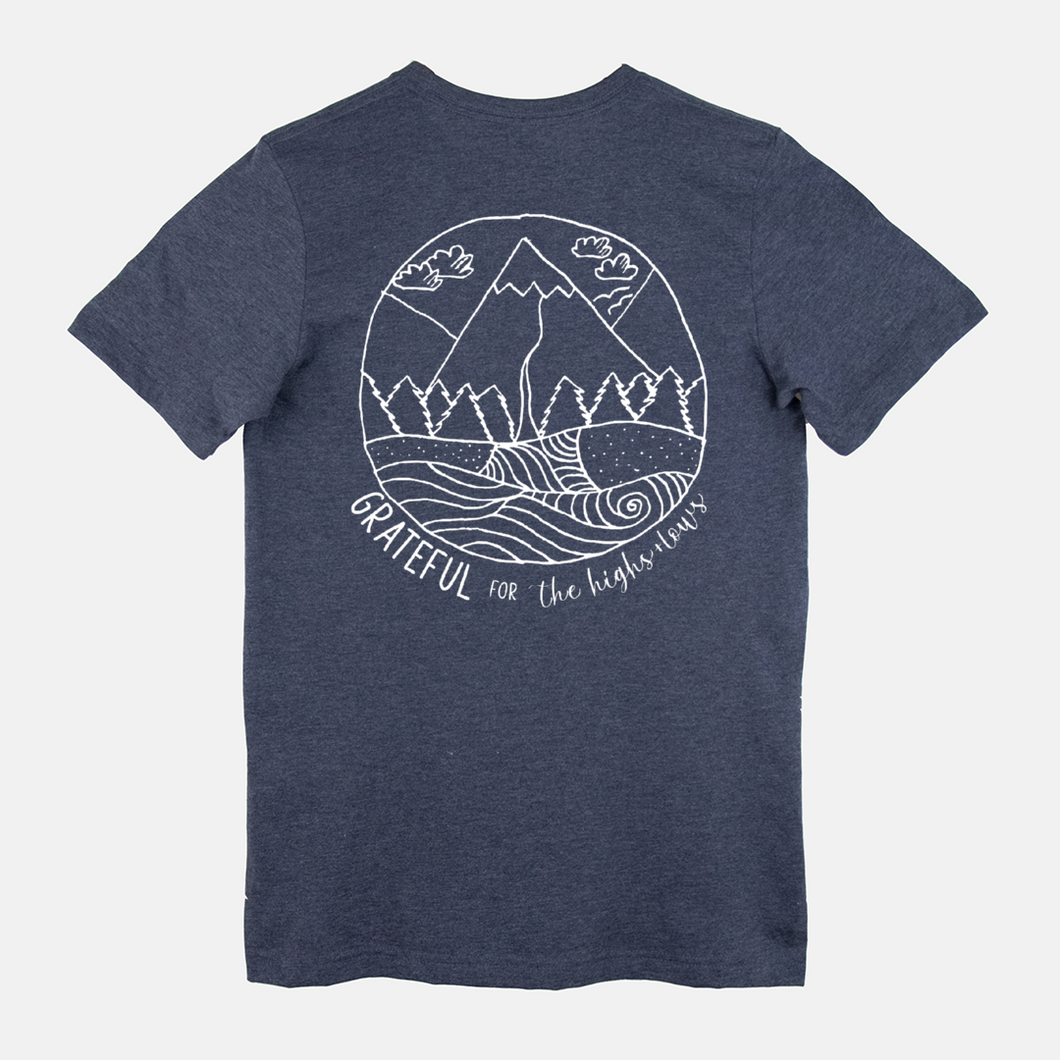 Grateful for The Highs & Lows | Short Sleeve T-Shirt