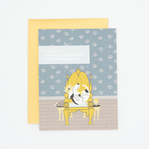 Dog Sitter Thank You Card