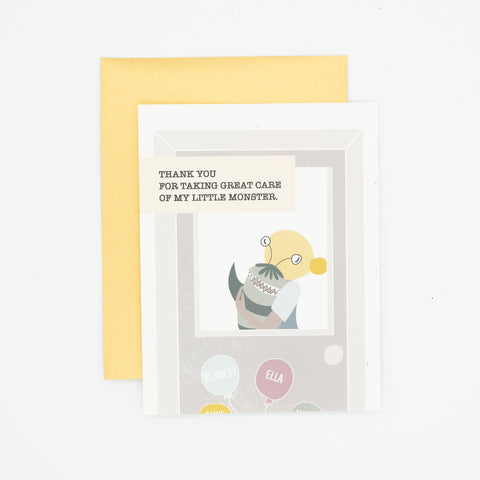 Monster - Thank You Greeting Card