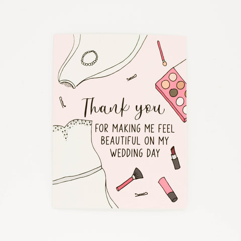 Wedding Makeup Artist - Thank You Greeting Card