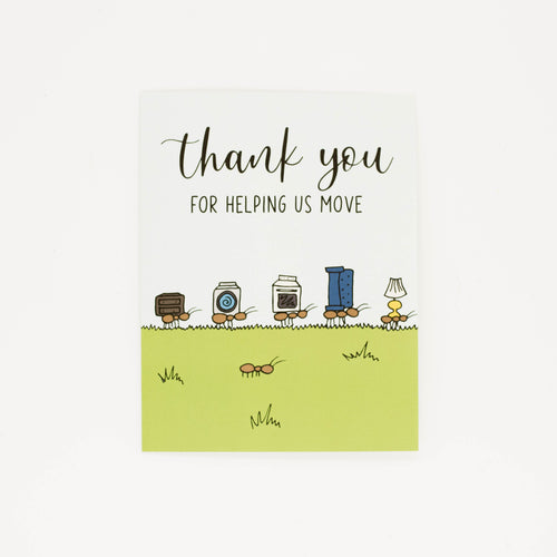 Helping us Move - Thank You Greeting Card-Greeting Cards-Grateful Paperie