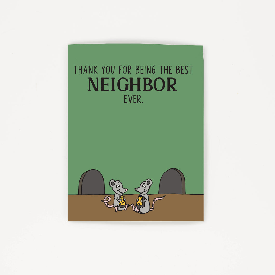 The Best Neighbor Ever - Thank You Greeting Card for Neighbors