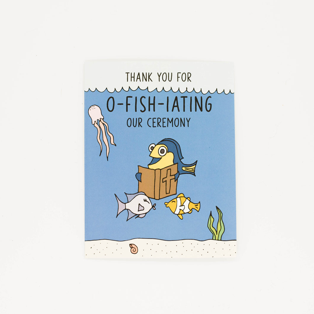 Wedding Officiant - Thank You Greeting Card