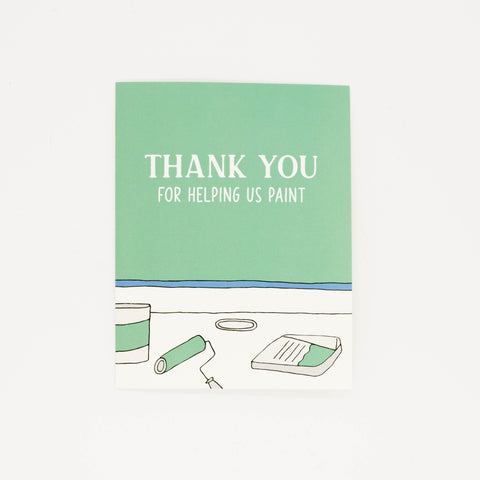 Helping us Paint - Thank You Greeting Card-Greeting Cards-Grateful Paperie