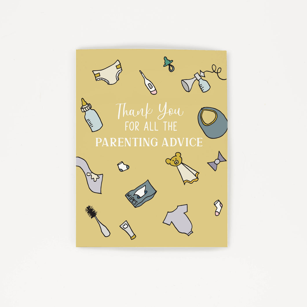 All The Parenting Advice - Thank You Greeting Card