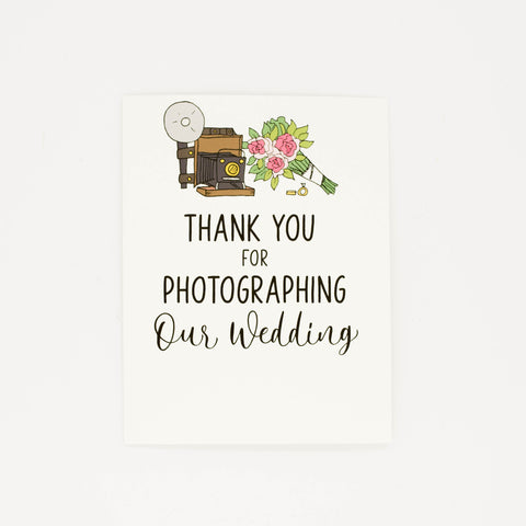 Wedding Photographer - Thank You Greeting Card