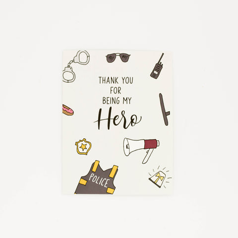 Police Officer - Thank You Greeting Card