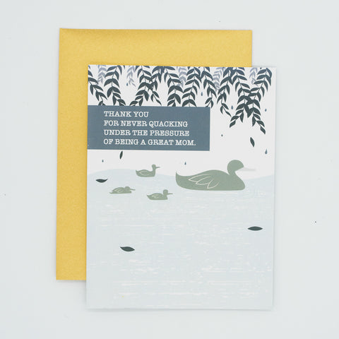 Quack - Thank You Greeting Card