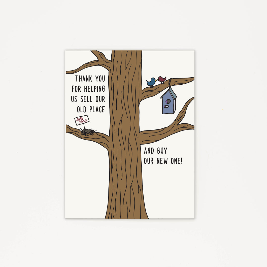 Realtor for the Birds - Thank You Greeting Card