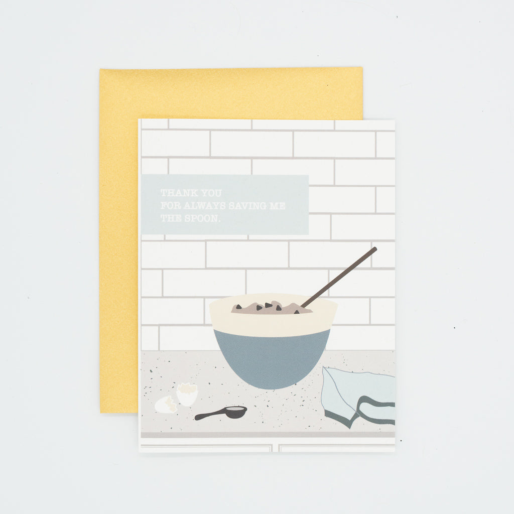 Spoon - Thank You Greeting Card