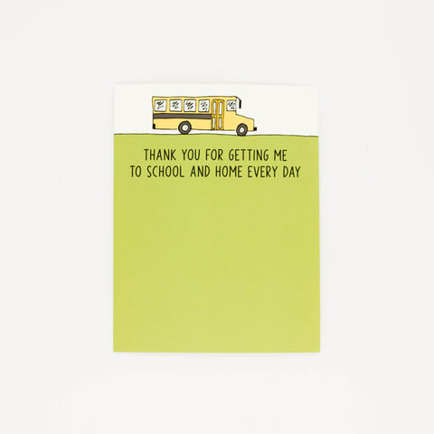 Bus Driver - Thank You Greeting Card