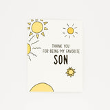 Favorite Son - Thank You Greeting Card-Greeting Cards-Grateful Paperie