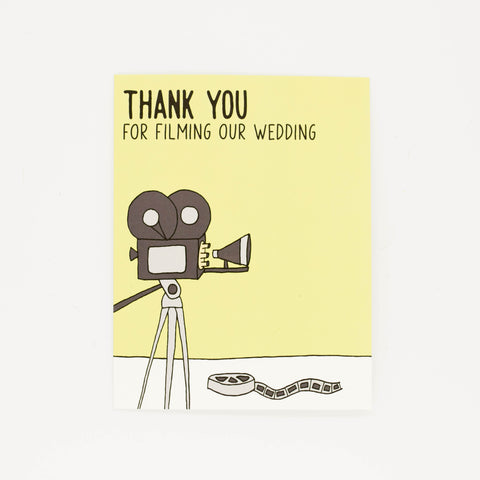Wedding Videographer - Thank You Greeting Card