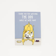 Load image into Gallery viewer, Watching The Dog - Thank You Greeting Card-Greeting Cards-Grateful Paperie