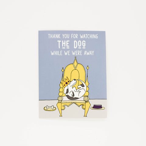Watching The Dog - Thank You Greeting Card-Greeting Cards-Grateful Paperie