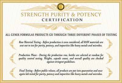 Genex Formulas Certification