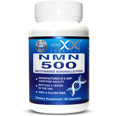 NMN 500mg Per Serving - Naturally Boost NAD+ Levels - 60 Capsules NMN Nicotinamide Mononucleotide Supplement