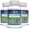 Nicotinamide 500mg 3-Pack Flush Free Niacin Vitamin B3 for Healthy Skin