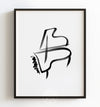 Abstract grand piano Printable Art