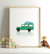 Toy Cars: Land Rover Vertical Printable Art