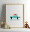 Toy Cars: Fiat Vertical Printable Art